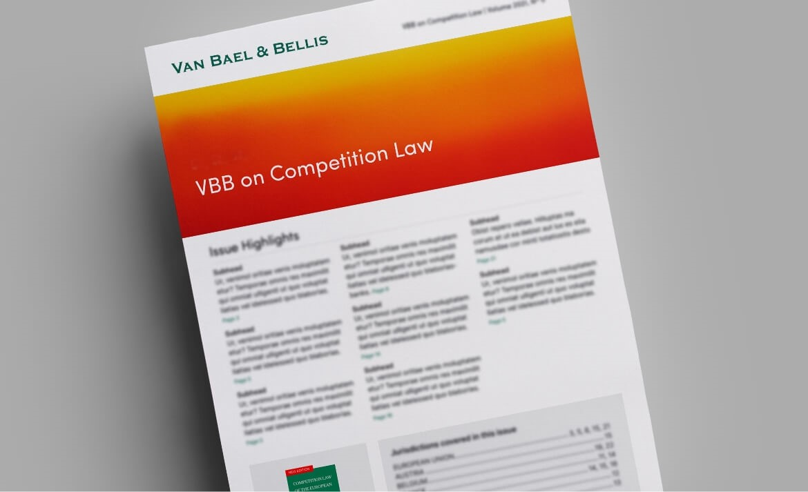 VBB on Competition Law, Volume 2017, No. 12