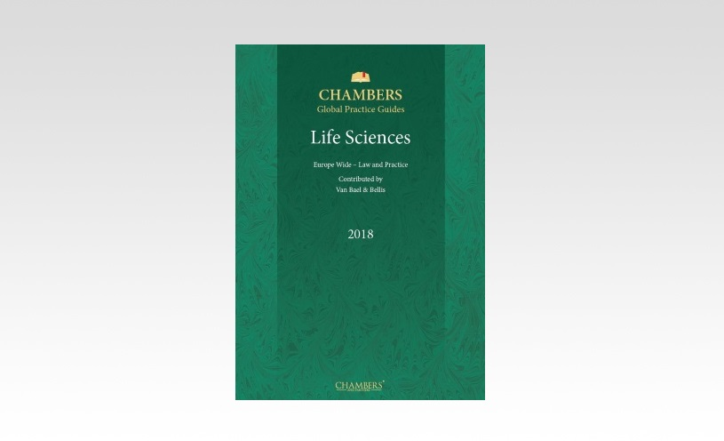 Van Bael & Bellis authors EU chapter of Chambers Life Sciences Guide 2018