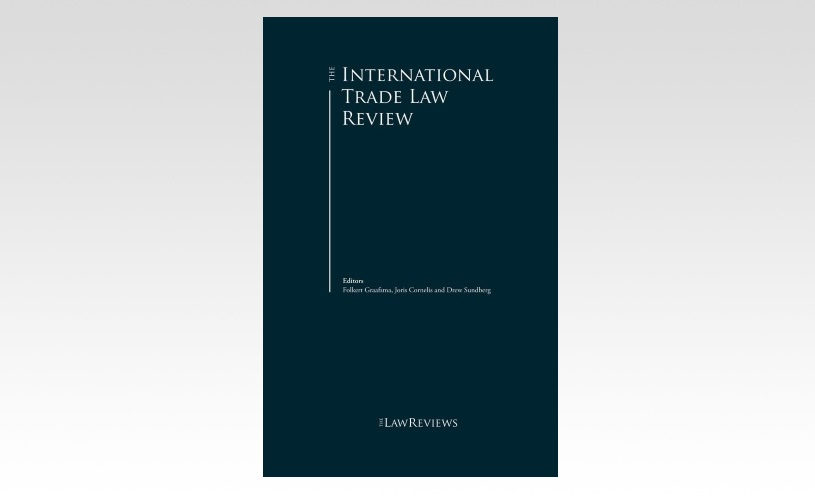 Philippe De Baere authors WTO chapter for The International Trade Law Review, 4th Edition