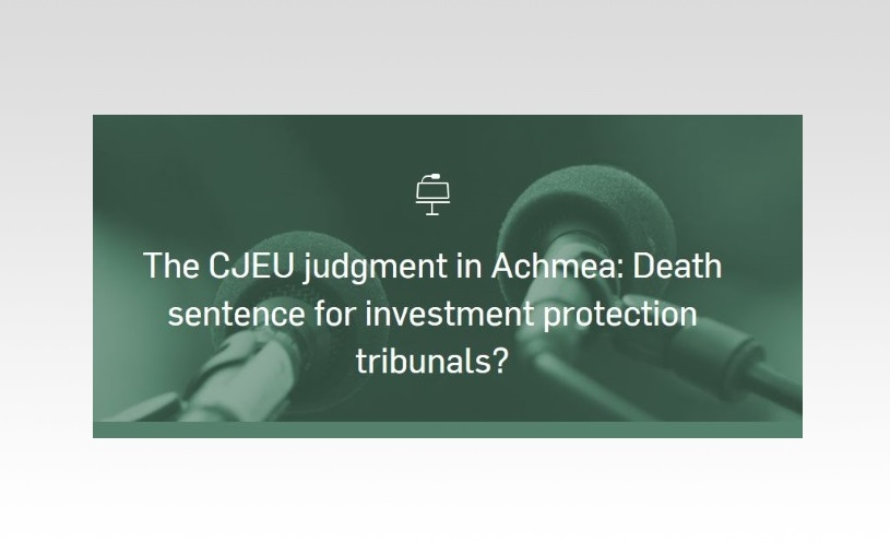 Quentin Declève participates as panelist at CEPS conference on implications of Achmea judgment